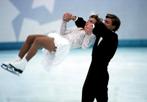Torvill & Dean, '94 Olympics; Photo by Mike Powell/ALLSPORT