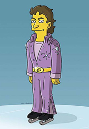 Elvis Stojko on The Simpsons