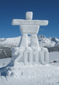 2010 Olympics Logo Ice Sculpture